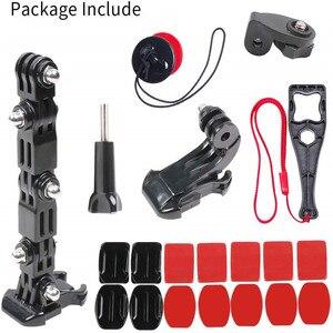 Image 1 - Sport Camera Accessoires Helm Kin Beugel Voor Gopro Hero 8 7 6 5 Sjcam Bike Motorhelm Chin Mount accessoires