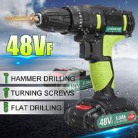 3 In 1 Electric Screwdriver 48VF 2 Speed Cordless Waterproof Electric Drill 25+1 Torque Power Tools With Rechargeable Battery|Electric Screwdrivers| |  -