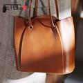 AETOO Vintage frauen tasche  große kapazität Sen abteilung einfache crossbody tasche  hundert leder handtasche-in Taschen mit Griff oben aus Gepäck & Taschen bei