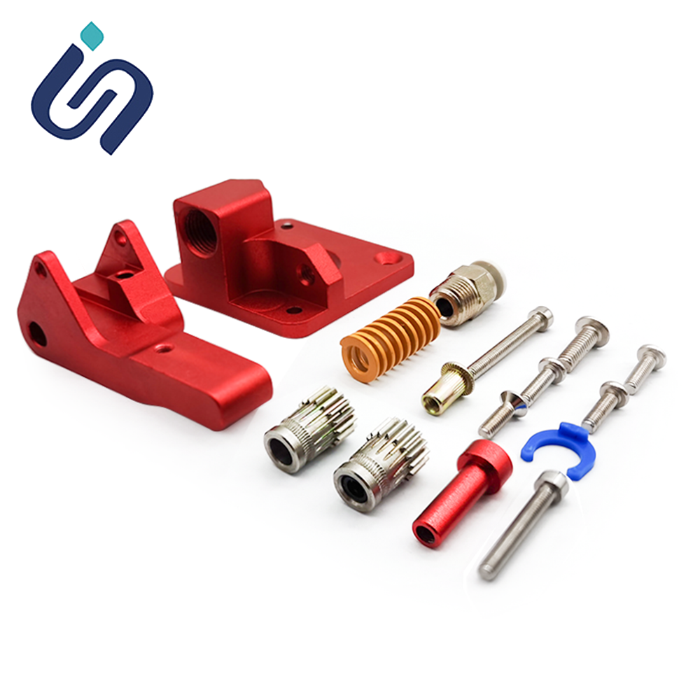 Aluminum Upgrade Dual Gear MK8 Extruder Kit For <font><b>Creality</b></font> CR-10 CR-10S Ender-3 PRO 3d Printer Parts Extruder Assembly Spare Parts image