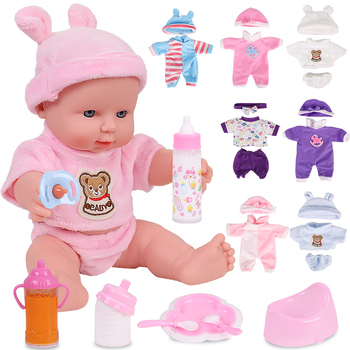 12 inches Bebe Reborn Toys Dolls For Baby Girl Newborn Full Silicone Toys Gift For Children Playmate Rubber Dolls одеяло la redoute детское с обработкой 75 x 120 см белый