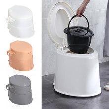 Novo toalete portátil com suporte de rolo papel nivelado potty móvel toalete grávida commode viagem ao ar livre acessórios acampamento