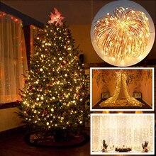 2 м/5 м светодиодный гирлянды Рождественская елка новогодние вечерние украшения для дома рождественские маленькие елки сосны деревенские Noel