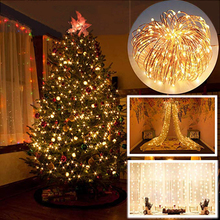 2m/5m LED String Lights Christmas Tree 2020 New Year Party Decoration For Home Ornaments Xmas Little Trees Pines Village Noel