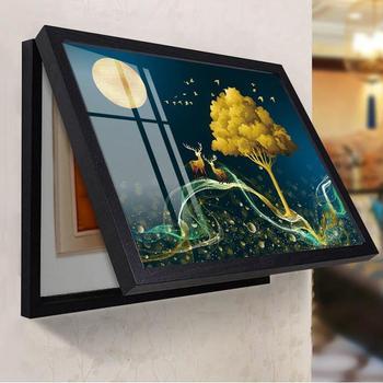 Meter Box Decorative Painting Free Punching Modern Minimalist Distribution Box Shielding Box Living Room Power Box Switch Box