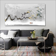 Абстрактная живопись плакат холст картины diy рама molduras