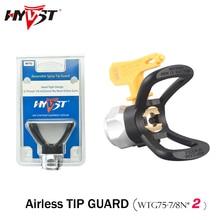 "Hyvst airless ponta guarda 2 pçs preto terno pistola dicas wtg bico/lp ponta 7/8 n ""nps alta pressão 7250psi bico assento"