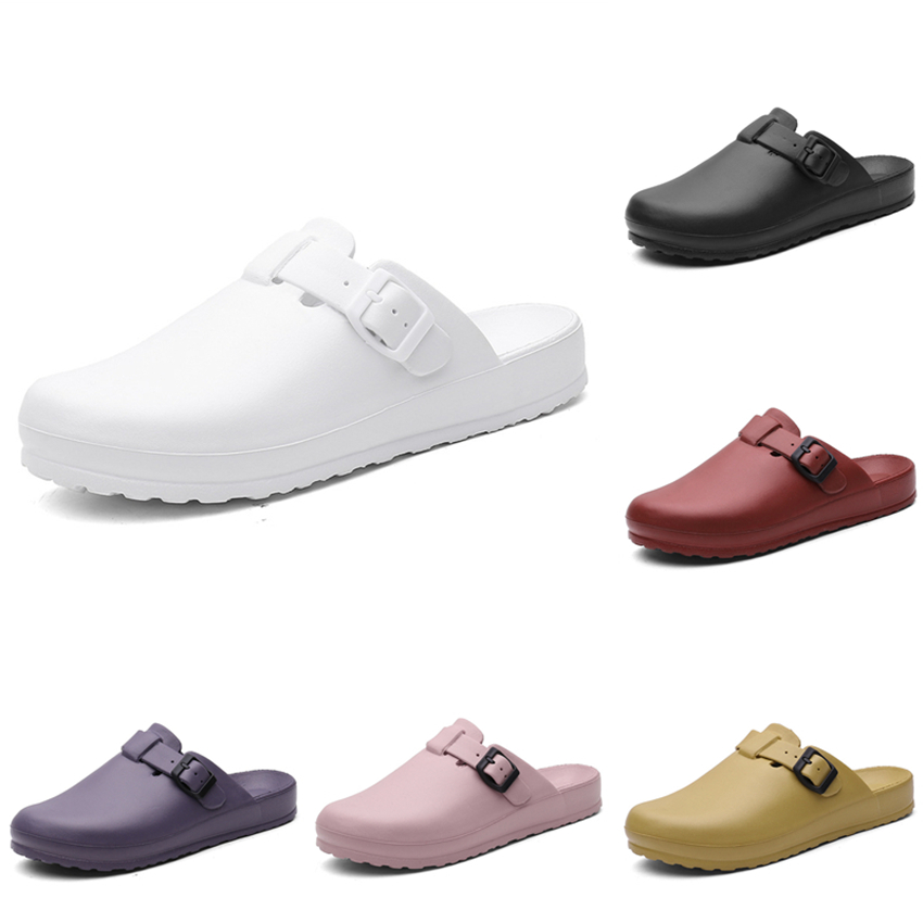 Medical Shoes Solid Hospital Nurse Doctor Operating Surgical Scrub Slipper Breathable Adjustable Non-slip Clogs Accessories image