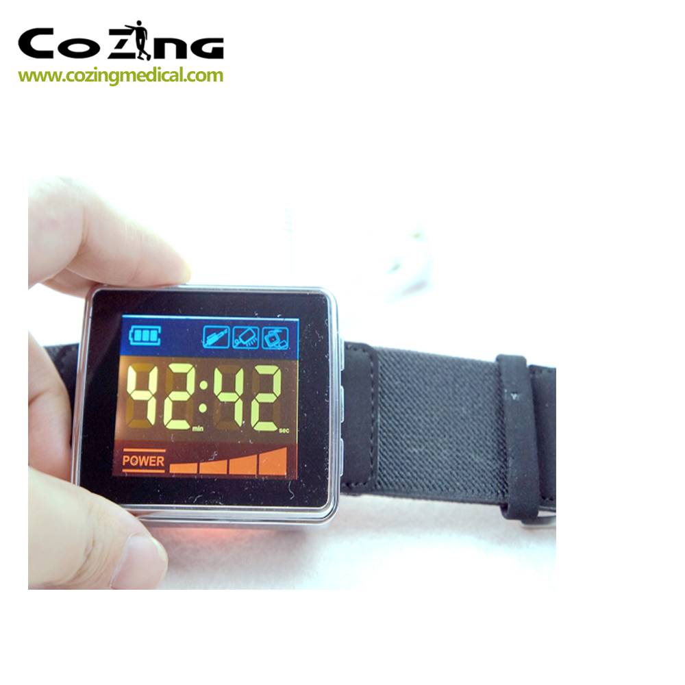 650nm Diode Laser Therapy Watch LLLT For Diabetes Cholesterol Hypertension Cerebral Thrombosis Physiotherapy Lower Blood Sugar in Massage Relaxation from Beauty Health