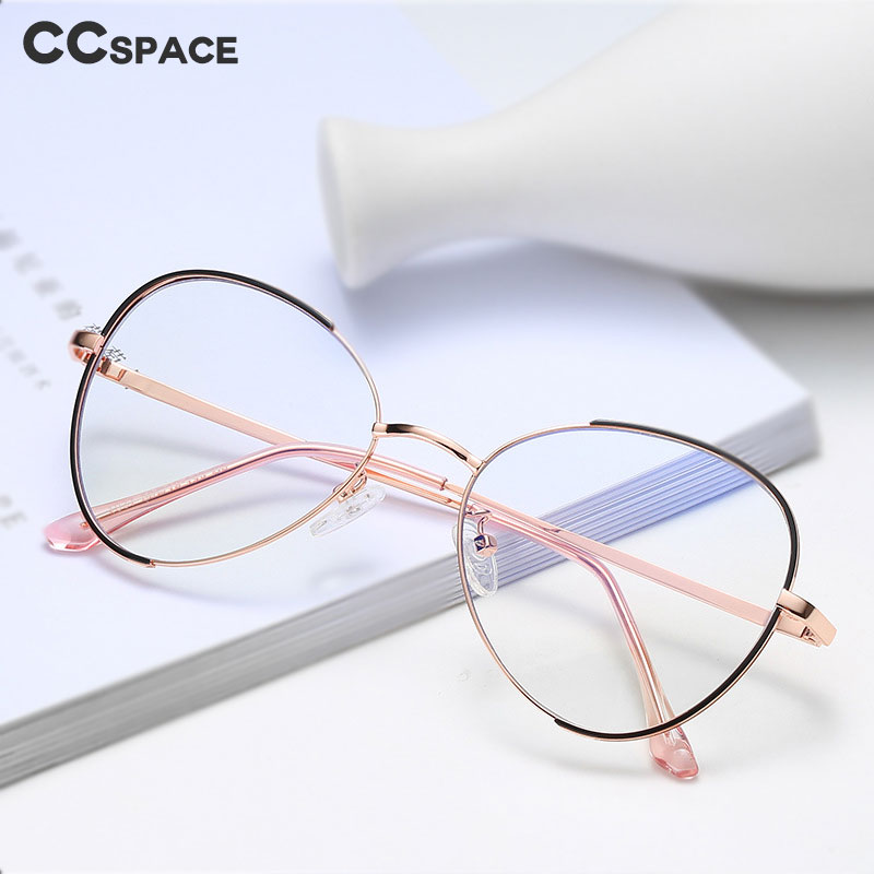 47330 Oval Simple Ultralight Metal Glasses Frames Men Women Optical Fashion Computer Glasses