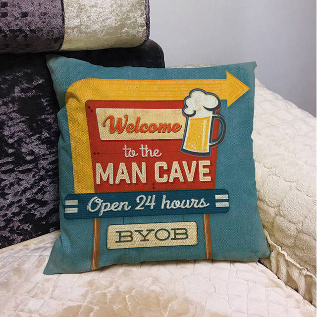 Beer Mancave Cushion Covers 4