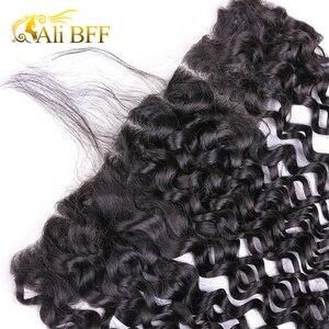 Image 5 - עלי BFF שיער עמוק גל חבילות עם פרונטאלית ברזילאי שיער תחרה פרונטאלית סגירת עם צרור רמי שיער טבעי חבילות עם פרונטאלית