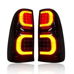 Image 3 - LED ด้านหลังพอดีโคมไฟ FOT HILUX VIGO 2005 2014 รถ LED ไฟเบรคด้านหลังโคมไฟแสงสีดำรถ ACCESSIRIES อัตโนมัติ