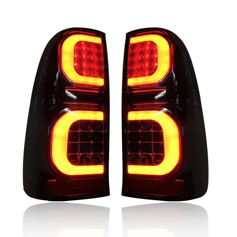 Image 3 - LED REAR LIGHT TAIL LAMP FIT FOT HILUX VIGO 2005 2014 CAR LED BRAKE LIGHTS REAR LAMP BLACK LIGHTING CAR ACCESSIRIES AUTO LAMPCar Light Assembly   -