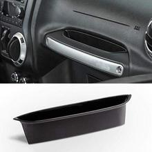 ABS Passenger Storage Tray Organizer Grab Handle Change Credit Card Phone Sunglasses Storage Box for Jeep Wrangler JK 2007 2017