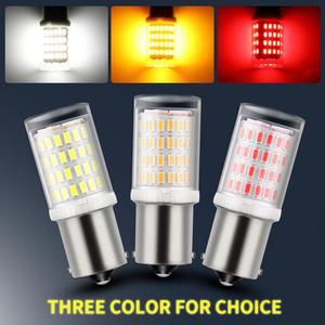 Image 4 - 1pcs 1156 BA15S P21W 1157 BAY15D LED נורות 80SMD 3014 שבבי סופר בהיר 1200LM 3D תאורת רכב הפעל אות אורות הפוך 12V