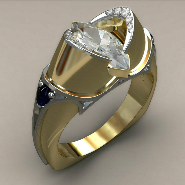 Crystal Zircon Ring Luxury Fashion Gold Color 925 Silver Promise Engagement 2