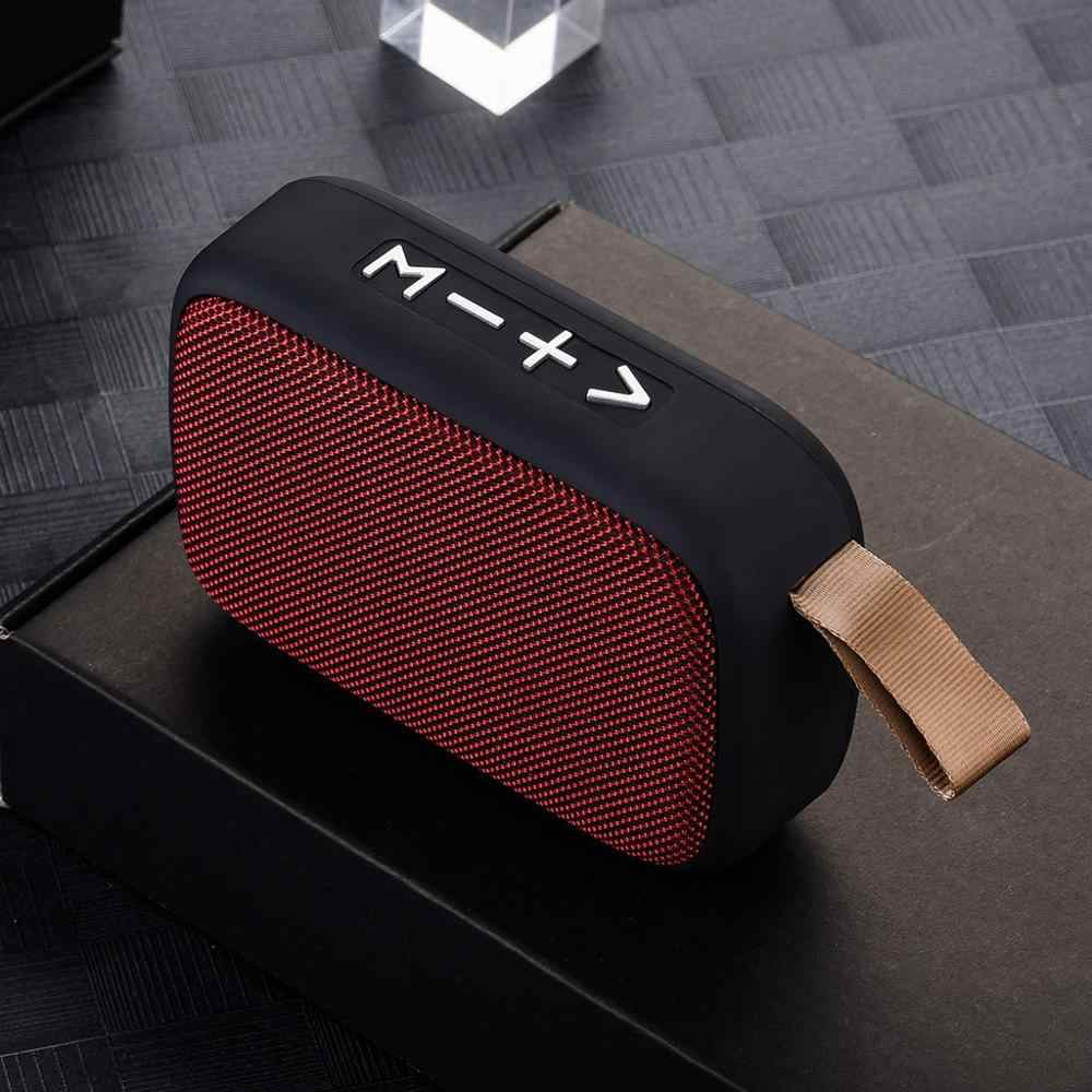 Portable Nirkabel Bluetooth Stereo Speaker untuk Smartphone Tablet Laptop Dukungan SD TF Kartu FM Radio Mini Loudspeaker Outdoor Baru