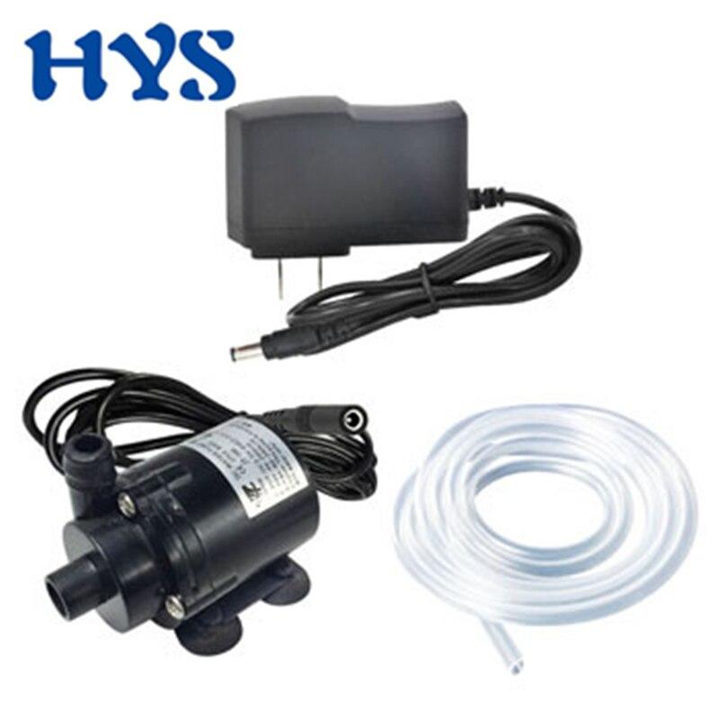 HYS Water Pump DC 6V 12V BLDC Submersible 12 Volt V Micro Brushless 280L/H Electric Pump Pomp Mini Portable DC12V Pumps  JT-160