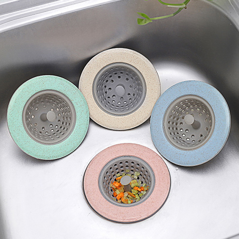 Silicone Bathroom Floor Kitchen Sink Round Anti-clogging Portable Drain Plug Filter Hair Debris Cleaner Bathtub Plug Suckers