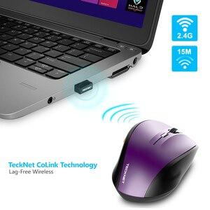 Image 3 - TeckNet classique souris sans fil 2.4GHz Portable optique USB Nano récepteur souris ordinateur PC 6 boutons 2400 DPI 5 niveaux de réglage