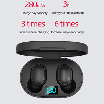Wireless Earphones E6S TWS Wireless Earbuds In Ear Sports Headset With Mic Bluetooth-compatible5.0 Earphones For Mobile Phone 2