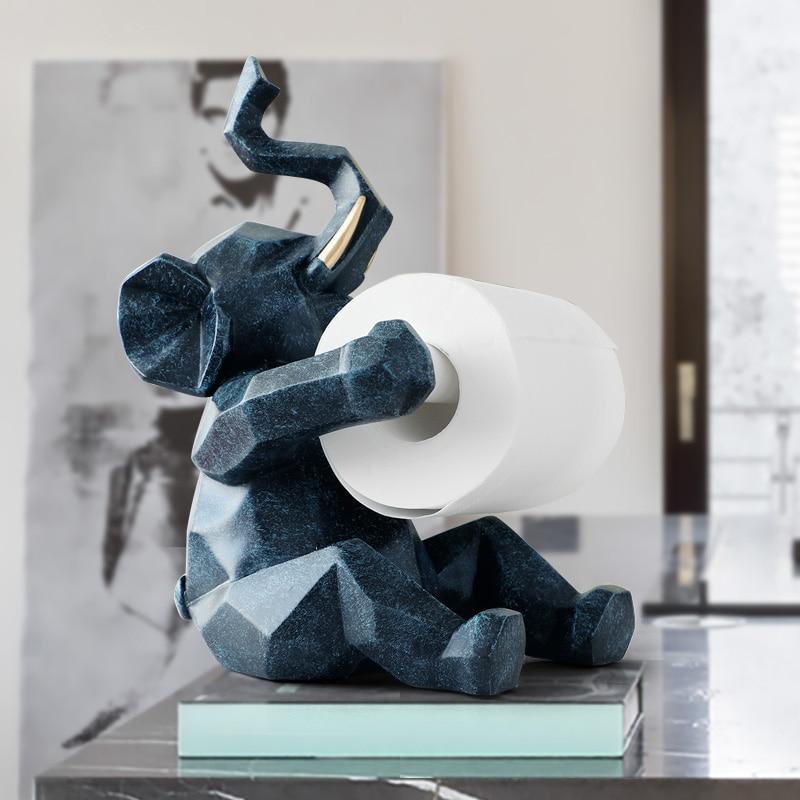 Animal statue Craft Decorations roll paper holder living room office restaurant hanging paper Elephant/deer figurine home decor