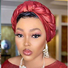 Новый дизайн 2020 Авто геле тюрбан блестящие Африканский Для женщин Кепки для африканских Шапки в нигерийском стиле тюрбан в стиле геле Лидер...