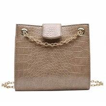 Fashion Woman Handbag Alligator Grain Female Solid Shoulder Bag Delicate Commuting PU Lady Chain Red Wild