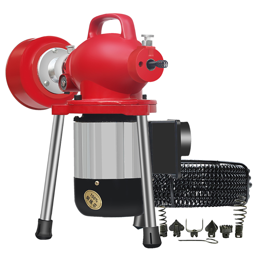 220V Professional Electric Pipe Dredging Machine Household Kitchen Toilet Drain Cleaner Sewer Dredger 400RPM 2500W Y