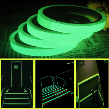 Reflective Tape Camping Equipment Hiking Accessories Outdoor Safety Car Stickers Light Luminous Warning Glow Fluorescent Tapes image