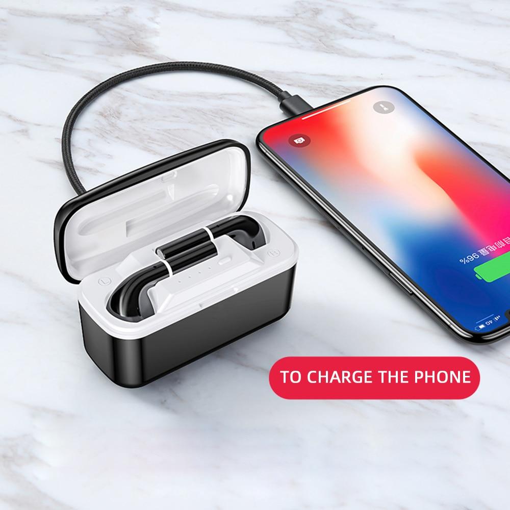 T06 binaural tws Bluetooth headset 5.0 touch charging bin wireless earphone with 2500 mAh portable power bank sport earbuds