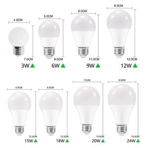 Image 3 - 10 قطعة LED لمبة عكس الضوء مصباح E27 E14 الطاقة الحقيقية 24 واط 20 واط 18 واط 15 واط 12 واط 9 واط 6 واط RGB led لمبة AC220V 240 فولت الذكية IC Lampada LED مصباح