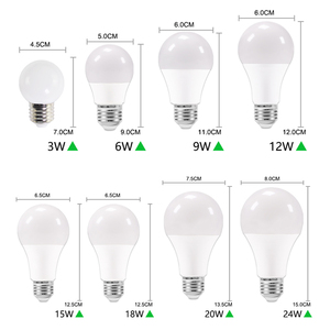 Image 3 - 10個のled電球調光対応ランプE27 E14リアルパワー24ワット20ワット18ワット15ワット12ワット9ワット6ワットrgb led電球AC220V 240vスマートicランパーダledボンビリヤ