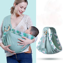 Newborn baby wrap carrier sling dual use portable nursing cover carrier breastfeed backpacks wrap ring carrier sling bag ergonomic backpacks bag sling for baby from 0 to 36 months portable for baby carrier sling