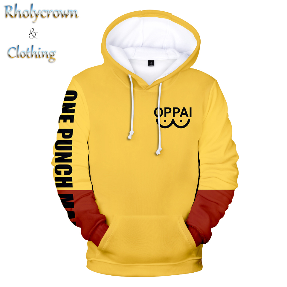Fashion ONE PUNCH-MAN Hoodie Men's Women's Sweatshirt Boys Girls Pullover Print ONE PUNCH-MAN Autumn Kids Anime 3D Casual Hooded