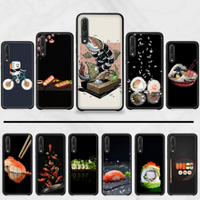 Strawberry Sushi Food Fruit Cover Shell Phone Case For Huawei P9 P10 P20 P30 Pro Lite smart Mate 10 Lite 20 Y5 Y6 Y7 2018 2019(China)