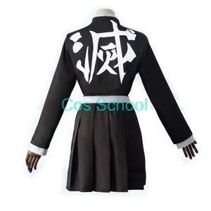 Image 4 - Disfraz de Kanroji Mitsuri para escuela Cos, disfraz de Cosplay de Kimetsu no Yaiba Mitsuri Kanroji, pelucas Kisatsutai, trajes de uniformes