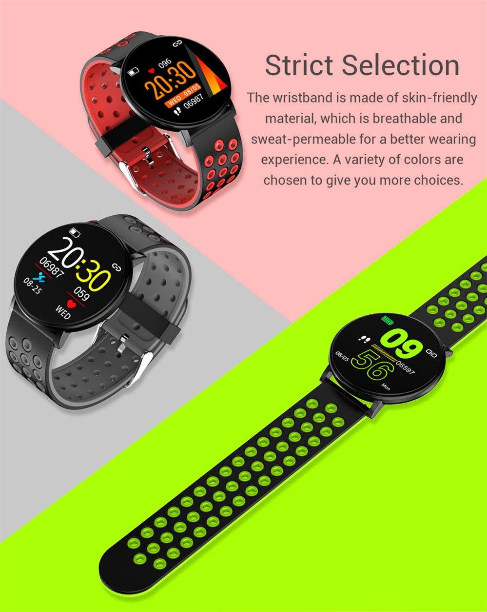 H370f1e7a6b764bf2957773e209c4b39f2 Smart Fitness Bracelet Blood Pressure Measurement Fitness Tracker Waterproof IP67 Smart Band Watch Heart Rate Monitor Pedometer
