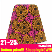Veritable Real ankara African Wax Printed Fabric 100% Cotton Nigeria fabric for women dress 6yards(China)