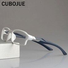 CUBOJUE spor erkek gözlük çerçeve TR90 gözlük çerçeveleri kadın ultra hafif reçete gözlük miyopi diopter optik gözlük