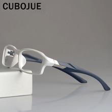 CUBOJUE sportowe męskie okulary rama TR90 oprawki do okularów kobiety ultra lekkie okulary korekcyjne krótkowzroczność dioptrii optyczne okulary