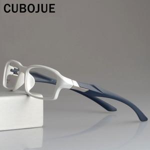 Image 1 - CUBOJUE sports Mens Glasses Frame TR90 eyeglass frames women ultra light prescription spectacles myopia diopter optical eyeglass