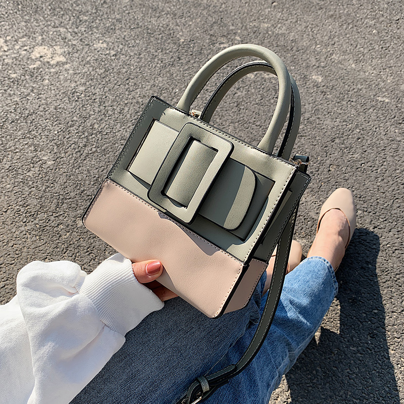 Mini Contrast Color PU Leather Crossbody Bags For Women 2020  Shoulder Handbags Female Travel Totes Lady Cross Body Bag