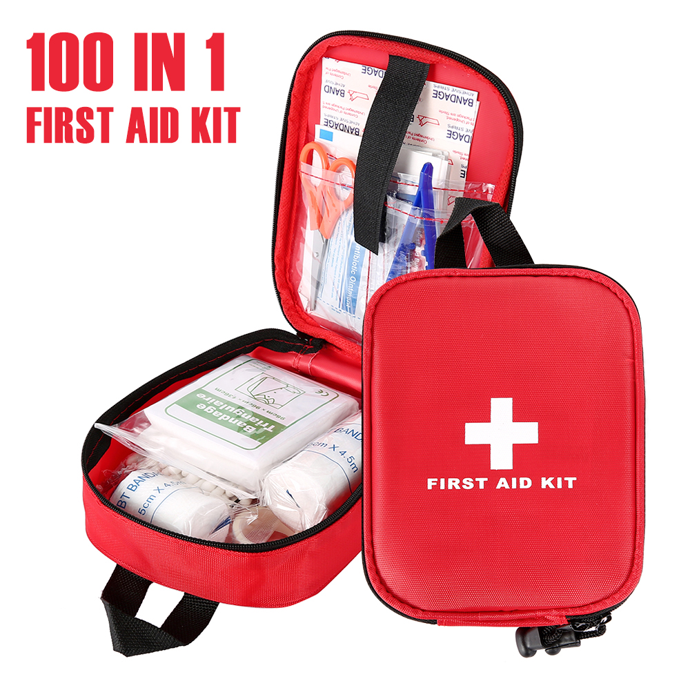 Ultimate SaleFirst-Aid-Kit Medicines Emergency-Survival-Set Camping Hiking Outdoor Portable for 100-180pcs