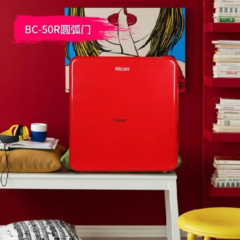50L Refrigerators Household   Retro Facemask Beauty Fashion  Refrigerator  Mini Fridges  Mini Fridge  Refrigerators