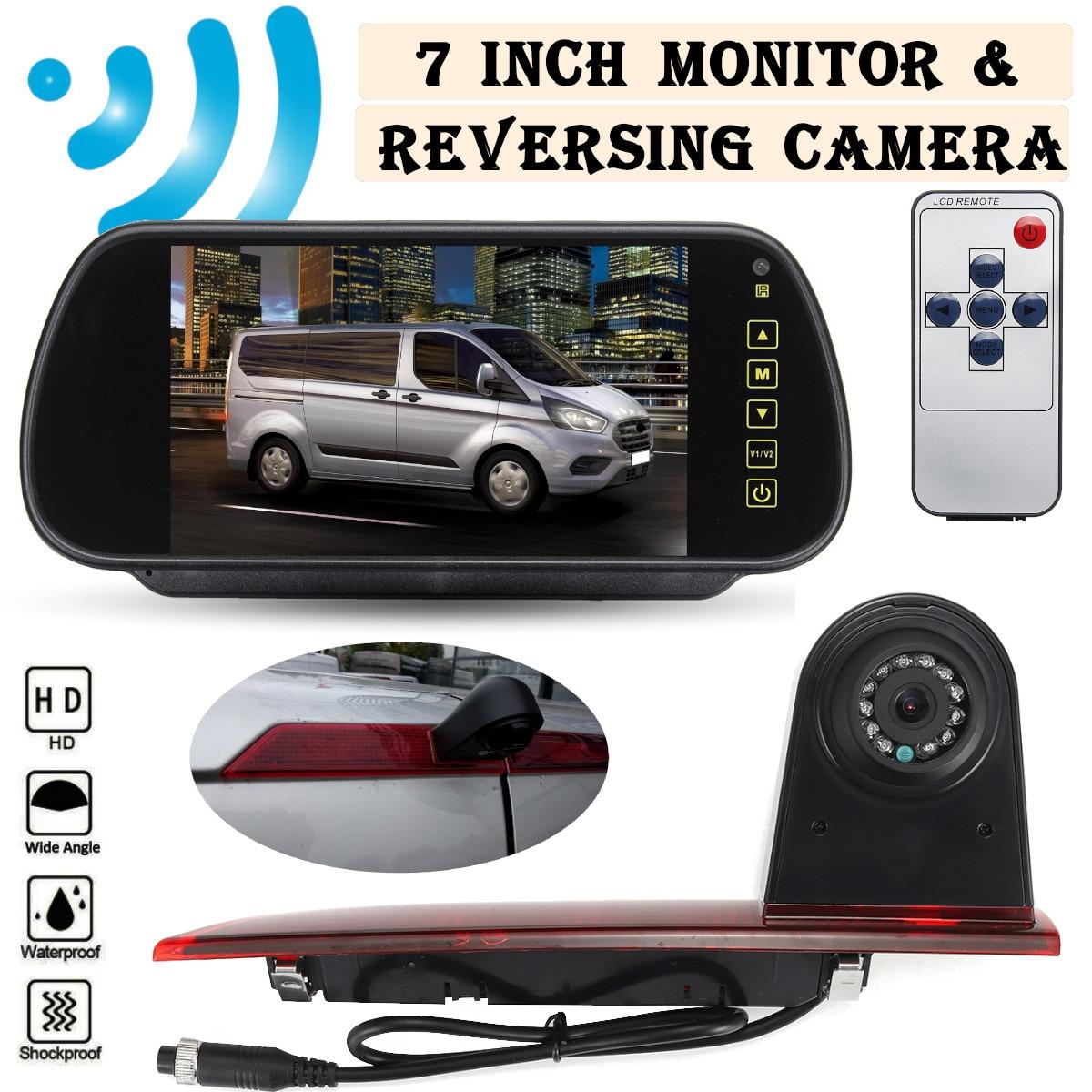 HD Car Rear View Camera Brake Light Reverse Parking Night Vision Waterproof For Ford Transit Custom 2015 2016 2017 2018 2019