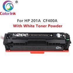 ColorInk 400A CF400A CF401A 402 403A 201A biały wkład z tonerem do hp hp color laserjet Pro M252dn M252n MFP M277dw druku na