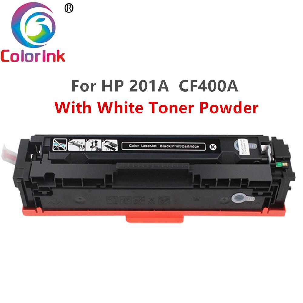 ColorInk 400A CF400A CF401A 402 403A 201A cartouche de Toner blanche pour hp hp couleur LaserJet Pro M252dn M252n MFP M277dw impression