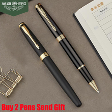 Free Shipping  Genuine Brand Hero 1502 Metal Sonnet Ballpoint Pen Luxury Business Smooth Writing Gift Pen Buy 2 Pens Send Gift